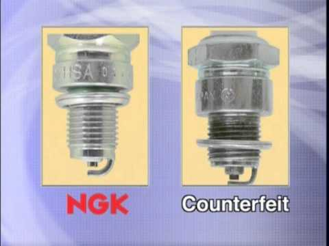 Ngk Spark Plugs >> Elaborate counterfeit spark plug - YouTube