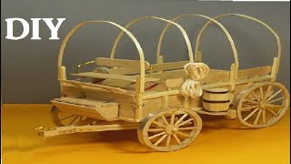OLD WEST WAGON by POPSICLE STICKS- DIY CRAFT
