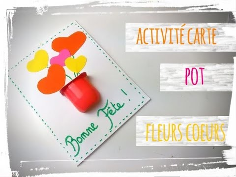 F Te Des M Res Activit Manuelle Carte Pot De Fleurs Youtube