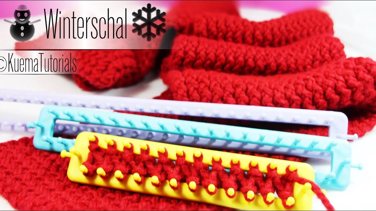 Knitting Loom - einfacher kuscheliger Winterschal - YouTube
