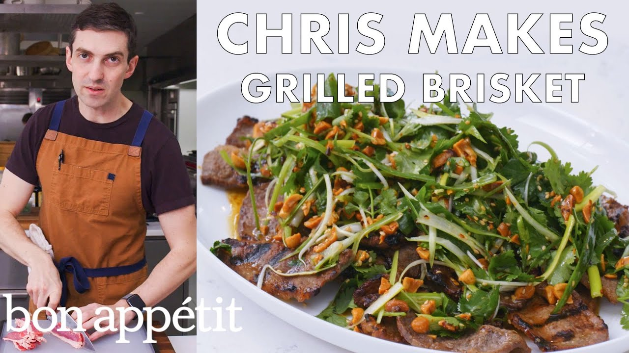 Chris Makes Grilled Brisket | From the Test Kitchen | Bon Appétit