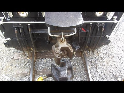 Lions POVA Tour Train Locomotive coupling to cars