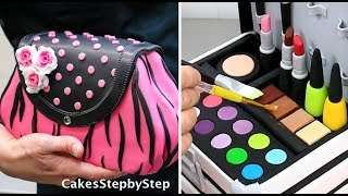 Amazing MAKE UP/FASHION Cakes and Cupcakes Compilation by Cakes StepbyStep