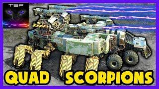 Crossout #339 ► Massive 2 Player Quad Scorpion Leviathan FUSION BUILD