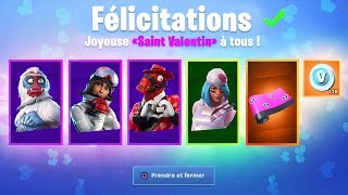 "SKINS FREE - CADELS OF THE EVENT ""SAINT VALENTIN"" ON FORTNITE!"