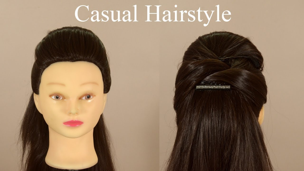 Semi Casual Hairstyle Bollywood Hairstyle Office Hairstyle For