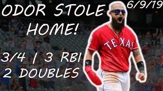 Rougned Odor Steals Home! | June 9, 2019 | 2019 MLB Season