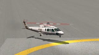 The best helicopter landing Sikorsky S76 - X Plane 10 Mobile