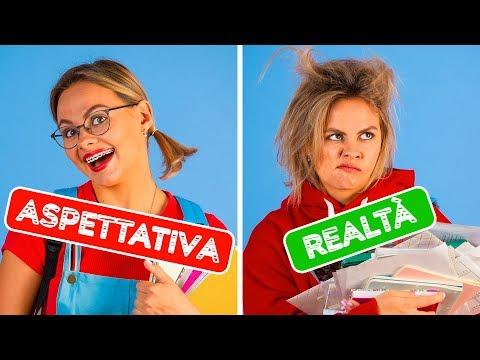 IL RITORNO A SCUOLA: ASPETTATIVA CONTRO REALTÀ || Situazioni divertenti da 123 GO!