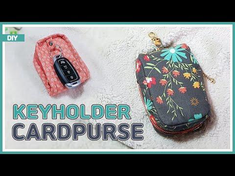 DIY/ KEY HOLDER & CARD PURSE & COIN PURSE/ FREE PATTERN/ 키지갑 겸 카드 & 동전지갑 만들기/ 패턴공유/ sewing/ tutorial