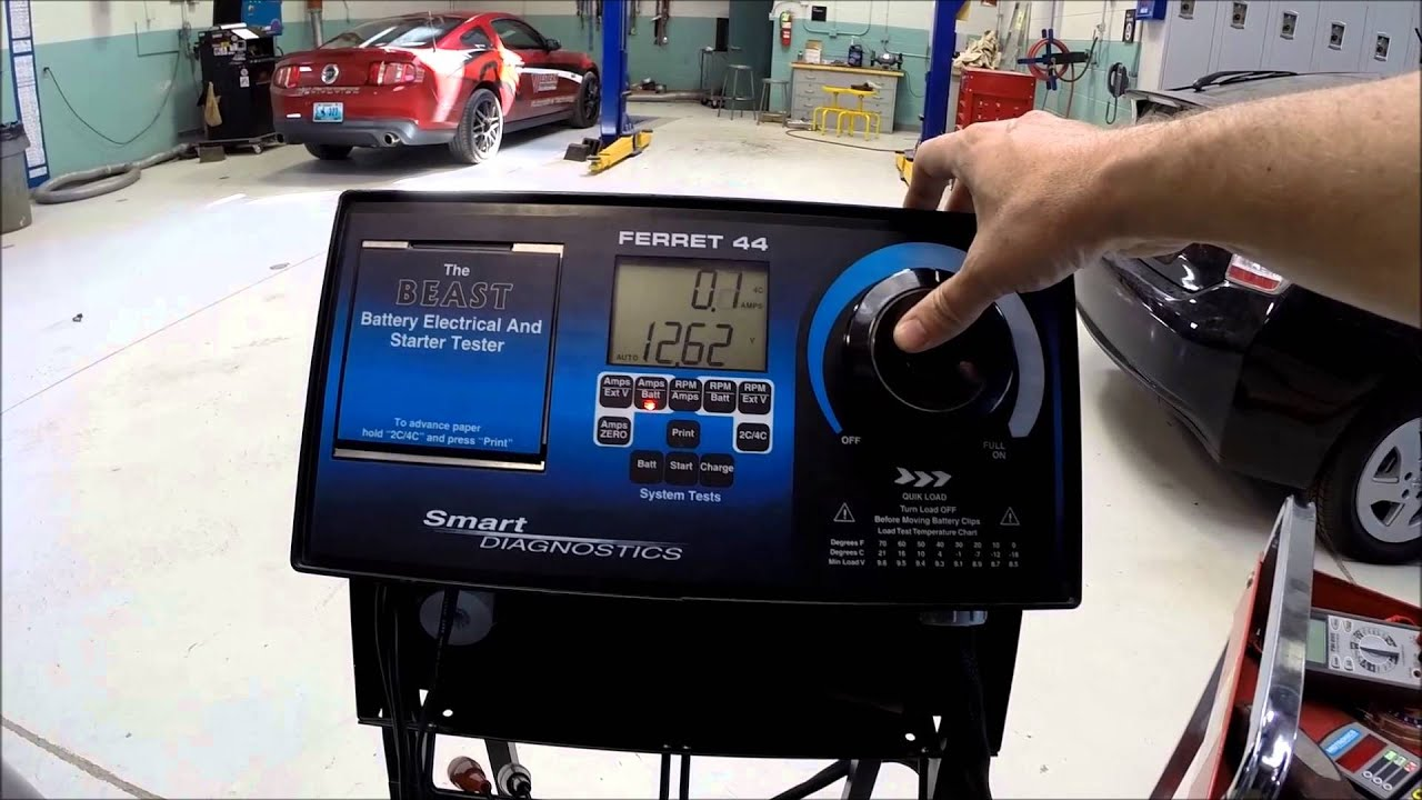 Using A Battery Load Tester : Load testing a battery youtube