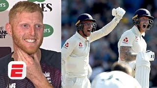 Ben Stokes reacts to his match-winning innings vs. Australia at Headingley | 2019 Ashes