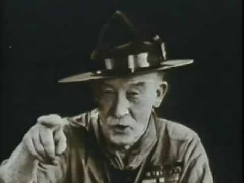 Bipi Lord Robert Stephenson Smyth Baden Powell Of Gilwell Youtube