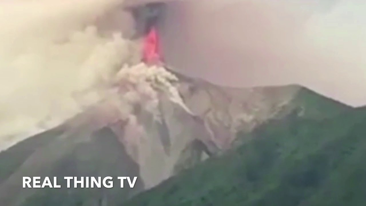 Guatemala's Volcn de Fuego Erupts, Spewing Ash and Lava Visible from Space by NASA