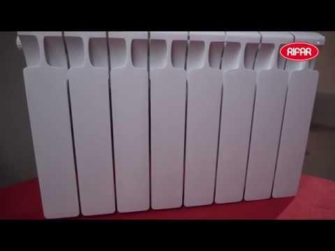 Установка радиатора RIFAR MONOLIT, боковое подключение радиатора отопления