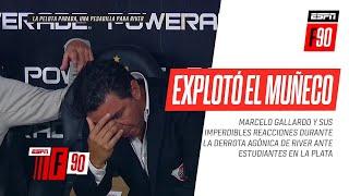 Las IMPERDIBLES REACCIONES del Muñeco #Gallardo en la derrota de #River ante #Estudiantes