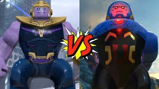 Thanos VS Darkseid - Who Would Win? LEGO Marvel Super Heroes 2 VS LEGO DC Super-Villains