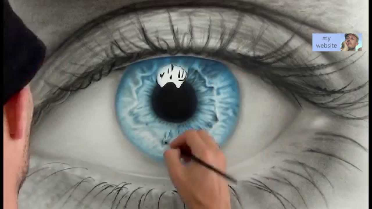 how to draw a amazing realistic eye speed painting youtube