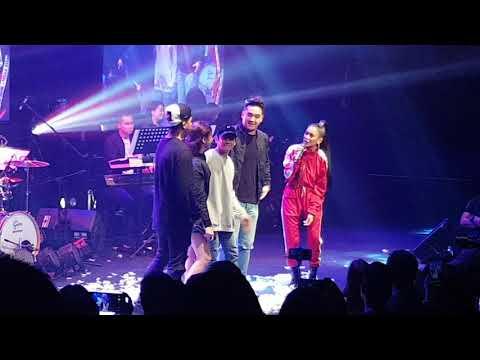 Ylona Garcia with former PBB Housemates at YLONA Arrival Concert