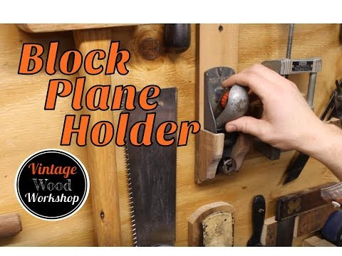 Adding to the Tool Wall!  Old Stanley Block Plane Holder. DIY. How To.