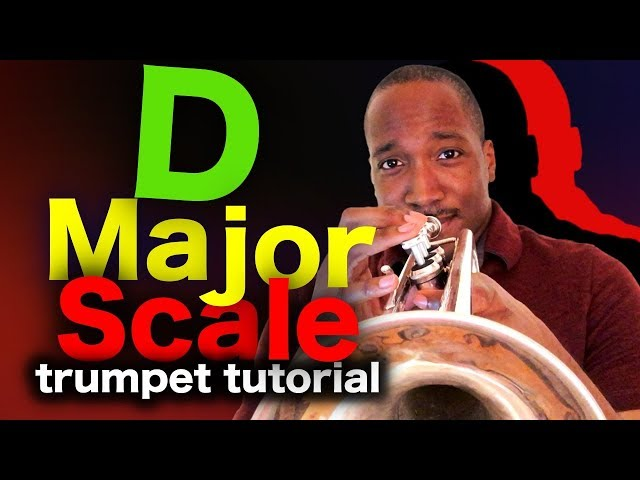 Learn to play D major scale on trumpet