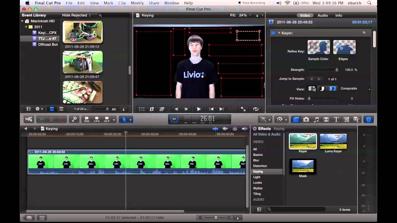 Keying (Green Screen) - Final Cut Pro X Tutorial