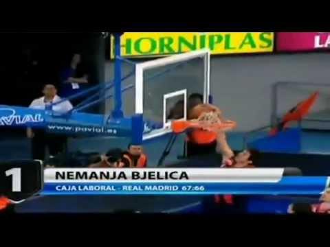 Nemanja Bjelica Monster Block on Nikola Mirotic!