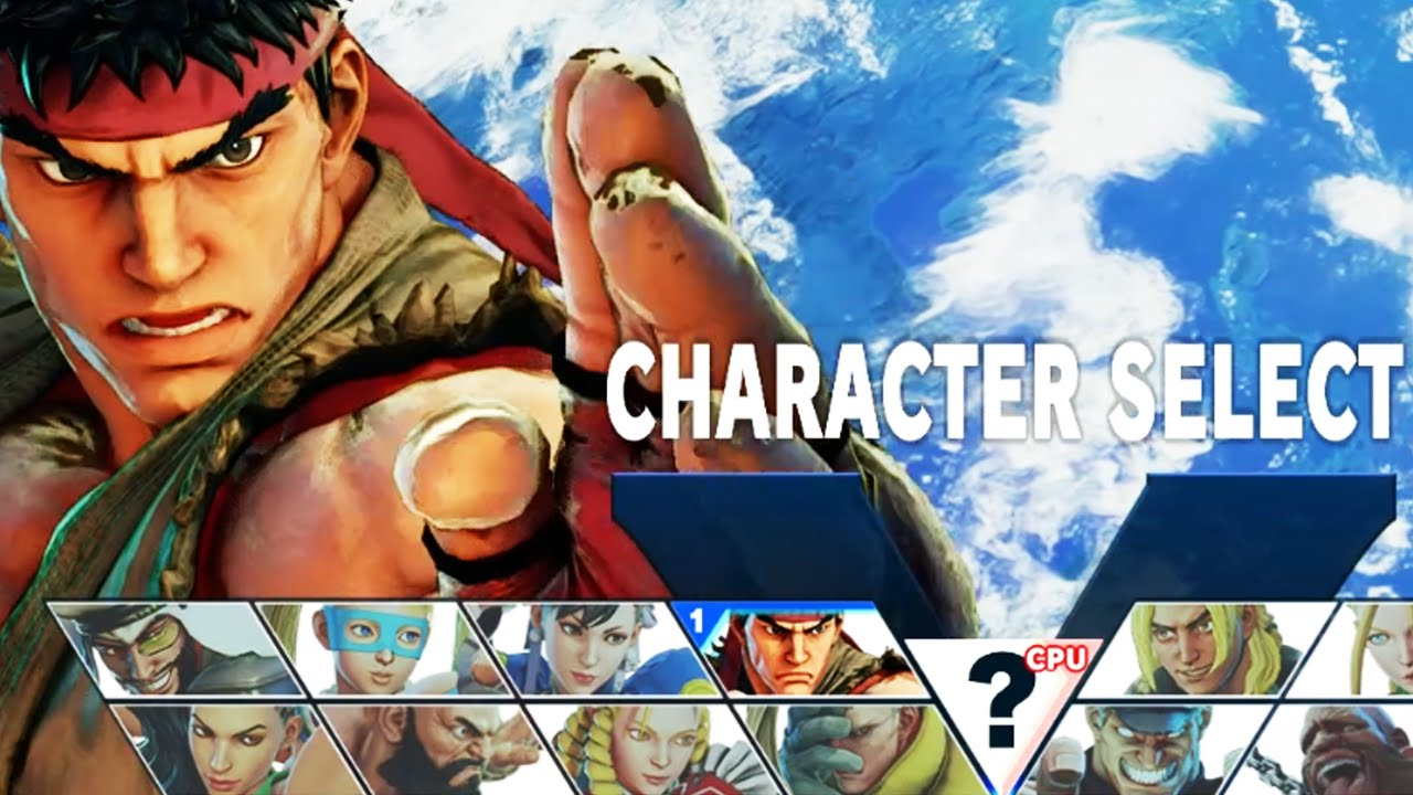 Vg Rosters Street Fighter V All Characters Ps4 1080p Hd Youtube