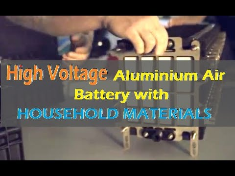 High Voltage Aluminium Air Battery With Household Materials