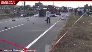 Sakarya'da korkunç kaza! 8 kişi olay yerinde hayatını kaybetti
