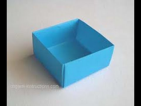 How To Make A Paper Box - YouTube