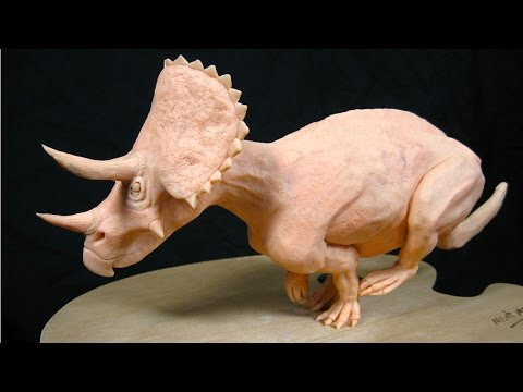 Art Lesson :  How to Sculpt A Triceratops in Polymer Clay