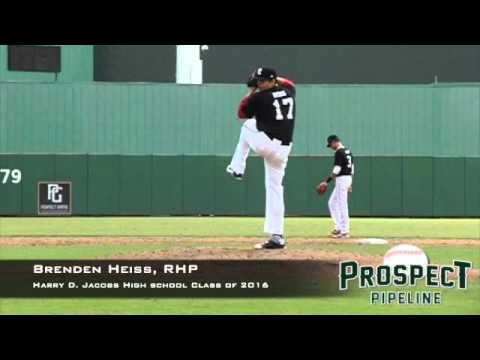 Brenden Heiss, RHP, Harry D Jacobs High School, Pitching Mechanics at 200 FPS