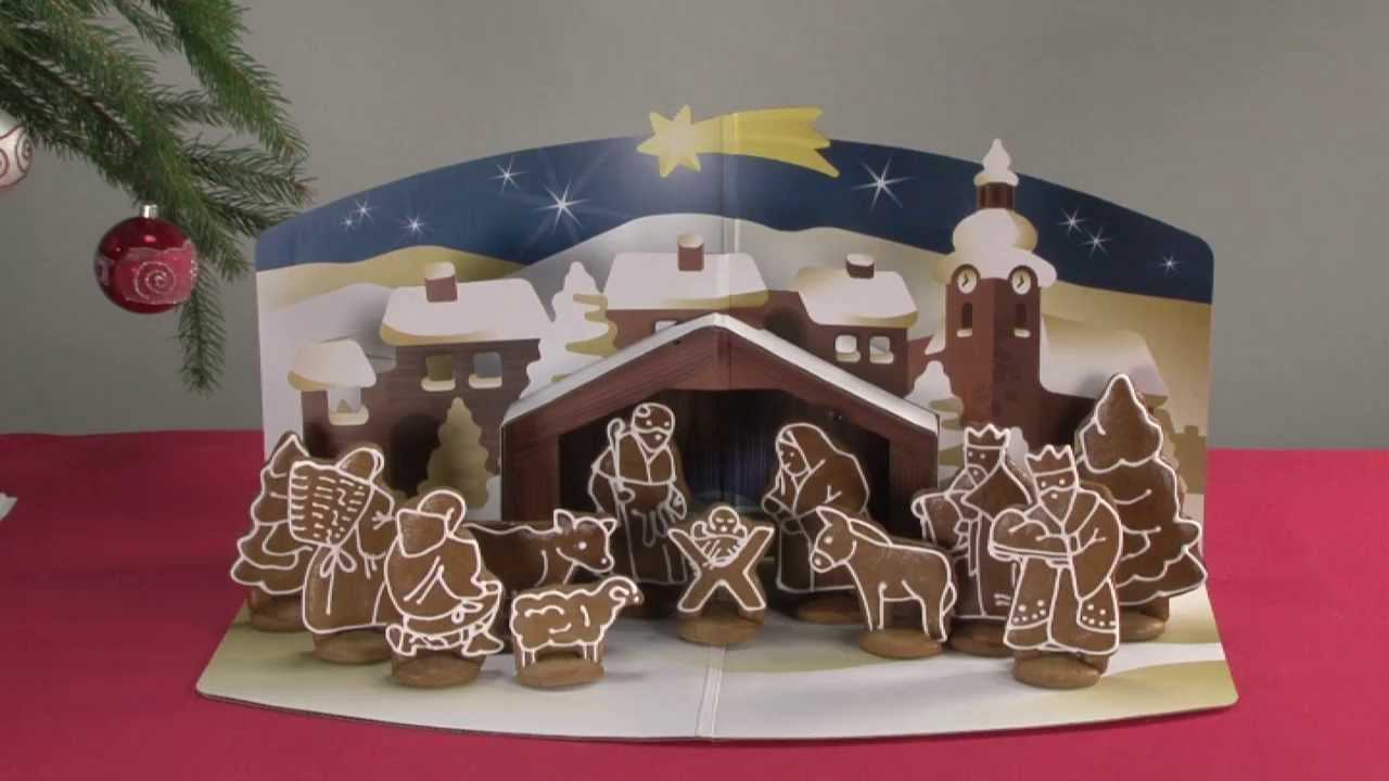 Gingerbread Christmas Nativity Scene TESCOMA DELÍCIA, set of cookie ...