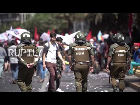 Chile: Workers take to Santiago streets in nationwide strike