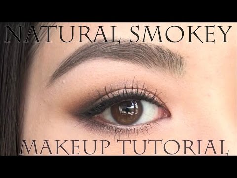 目の横幅を大きく見せるナチュラルスモ―キーアイの作り方 | Soft Smokey eye makeup tutorial