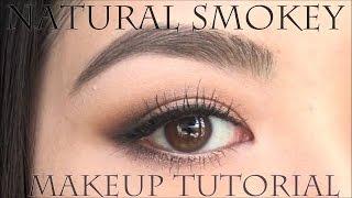 目の横幅を大きく見せるナチュラルスモ―キーアイの作り方 | Soft Smokey eye makeup tutorial thumbnail