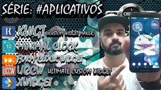 Série: #Aplicativos widget de relógio ( KWGT - UCCW - Xwidget - Form clock Widget - Minimal Clock )
