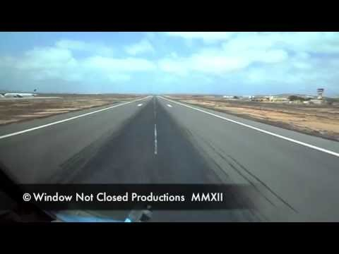 Approach and landing Boa Vista Runway 03.   NOT Flight Simulator