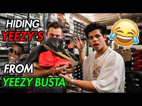 HIDING YEEZY'S FROM YEEZY BUSTA (EXPOSED!)