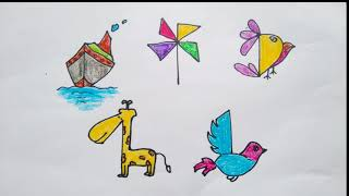 Coloring and drawing for kids - How to draw using number - Draw for kids - DIEM MAI