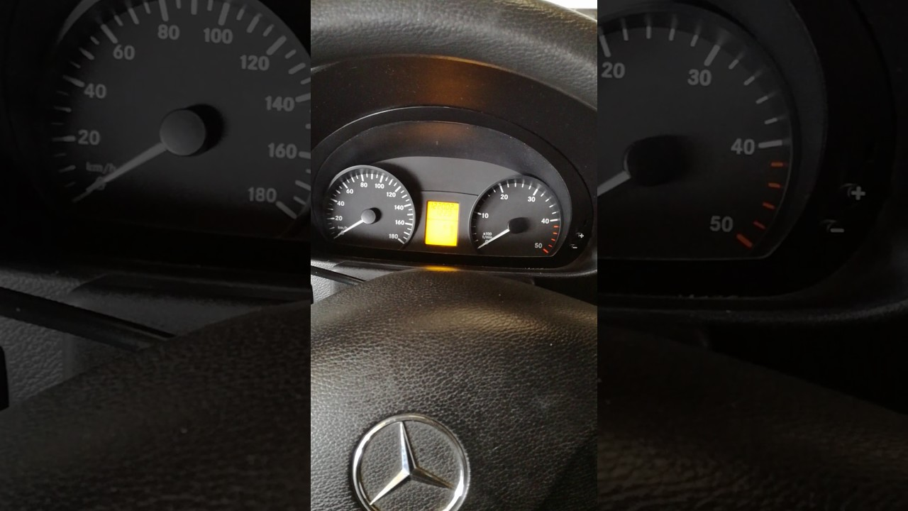 Remise A Zero Entretien Mercedes Sprinter Et Vito Youtube