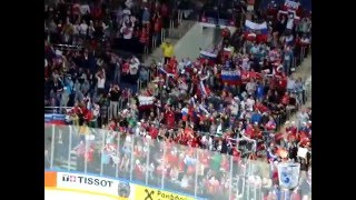 Казахстан - Россия | Лада седан баклажан на хоккее  (8 мая 2016)