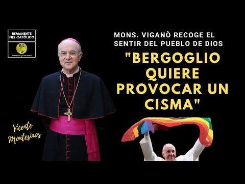 MONSEÑOR VIGANÒ DESTAPA AL PAPA BERGOGLIO: QUIERE PROVOCAR UN CISMA