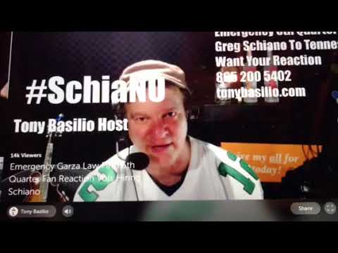 Tennessee fan Tony Basilio DESTROYS Volunteers for hiring Greg Schiano