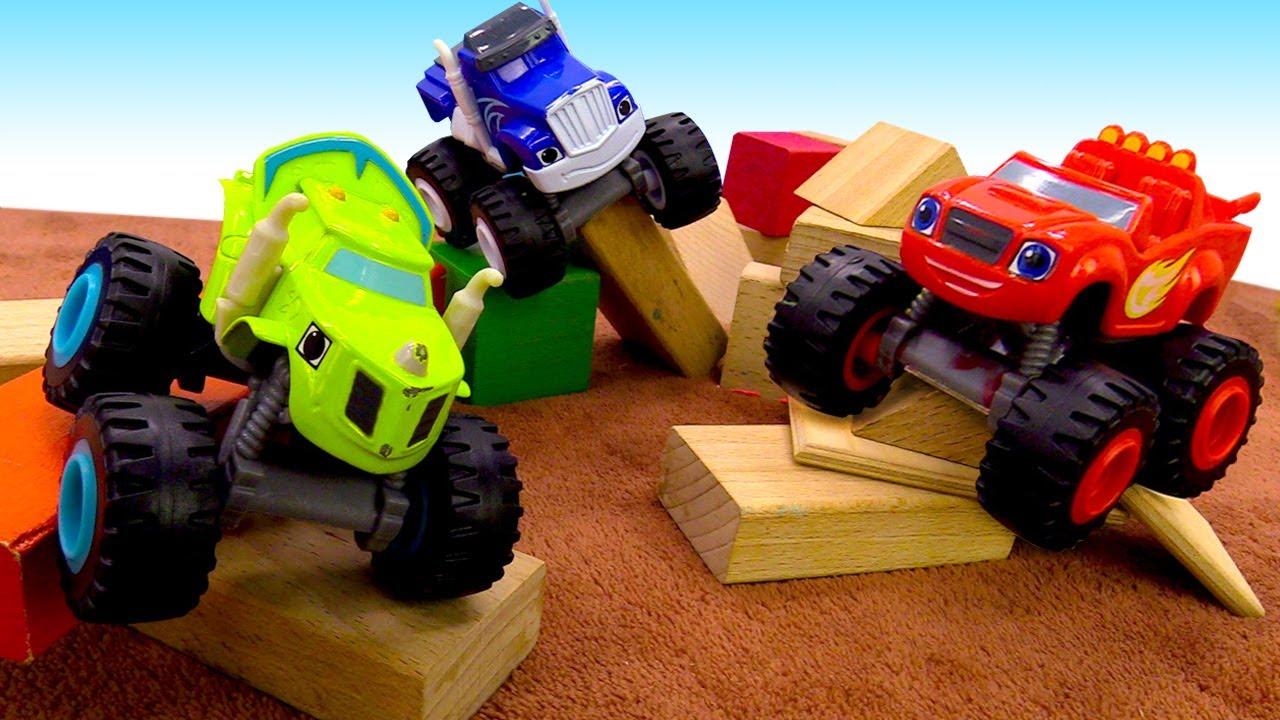 Qual é o carro mais rápido? Carros de corrida Blaze and the Monster Machines em português