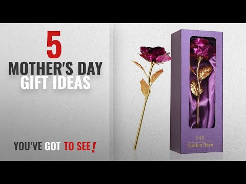top-5-mother's-day-gift-ideas-[2018]:-mothers-day-gifts,-purple-rose-flower-present-24k-golden-foil
