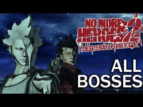 No More Heroes 2: All Bosses and Ending (4K 60fps) (Dolphin Emulator)