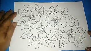 "Gambar Batik ""bunga Ornamen"" #4"