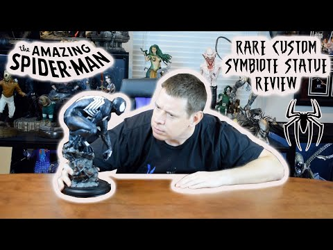 Rare Custom SPIDER-MAN SYMBIOTE STATUE Review